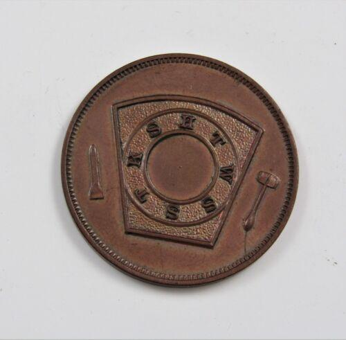 1880 FREEMASON Phoenix Masonic One Penny Token Arizona Chapter #1