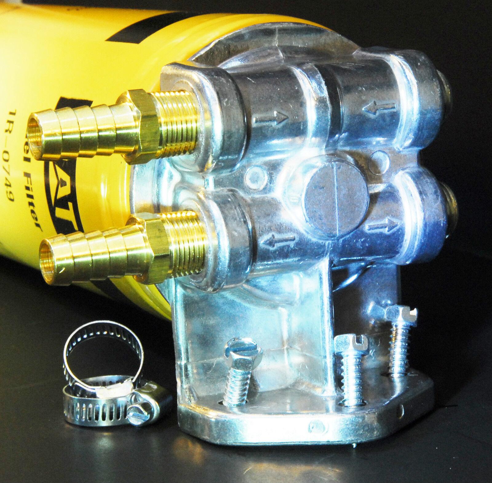Duramax 66 Lb7 Lly Lbz Lmm Lml Turbo Diesel Fuel Filter Remote Housing 2 Of 5 Mount 3