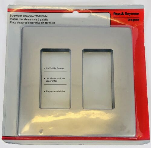 Pass & Seymour Two-Gang Screwless Decorator Wall Plate, Nick