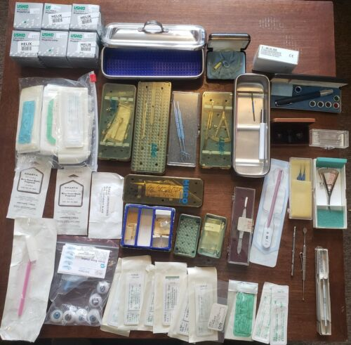 Large Ophthalmology Surgical Instrument Lot - PST, HUCO & More