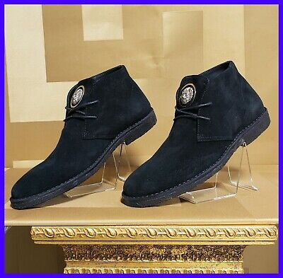 NEW VERSUS VERSACE BLACK SUEDE LEATHER SHOES 39 - 9