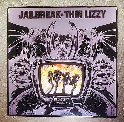 THIN LIZZY Jailbreak Ceramic Tile Coaster Record Cover