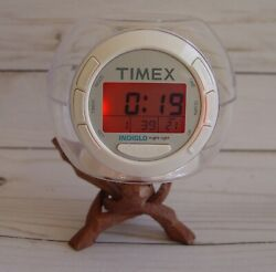 Timex Indiglo clock and night light white noise
