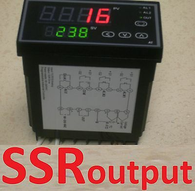 Programmable Pid Temperature Controller Ramp Soak Kiln 50 Segment Timely Cycles