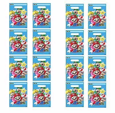 Super Mario Brothers Favor / Loot / Treat Bags Birthday Party Favor Supplies - Mario Brother Party Supplies
