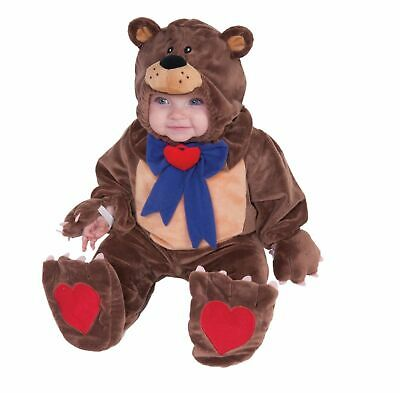 Infant Toddler Child Teddy Bear Jumpsuit Cute Baby Halloween Unisex Costume NEW](Toddler Bear Costumes)