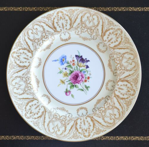 Royal Worcester Plates  -  Set of 12  -  Lots of gold.    10 1/2""