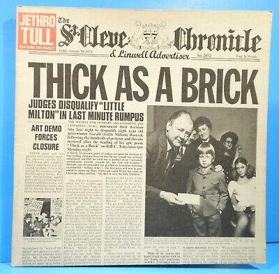 JETHRO TULL THICK AS A BRICK LP '72 ORIGINAL INSERTS GREAT CONDITION! VG+/VG+!!B comprar usado  Enviando para Brazil