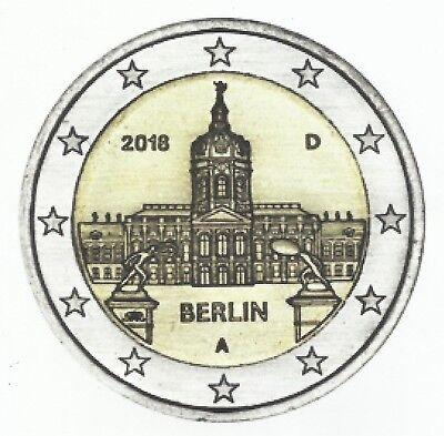 DUITSLAND I 2018 - 5 x 2 Euro - kasteel Charlottenburg - BERLIJN - UNC!