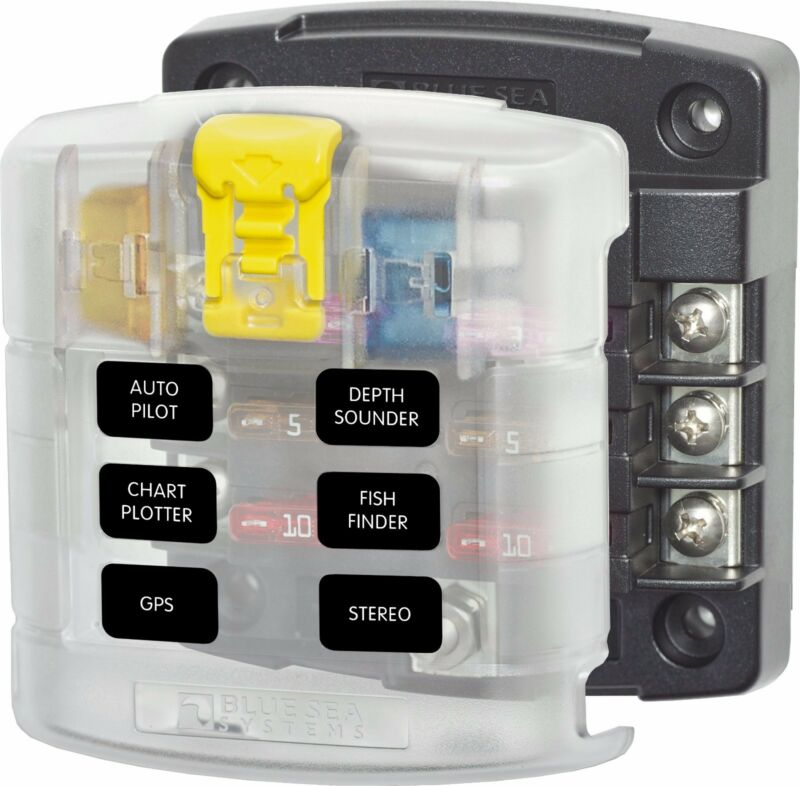 Blue Sea 5028 ST 6 Position Fuse Block Blue Seas 5028 Fuse Holder Fuse Panel