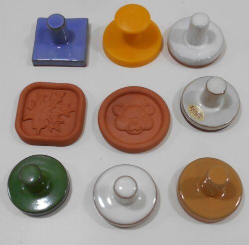 9 Cookie Stamps Some Rycroft Ceramic Wheat Teddy Hearts angel Jack O Lantern +