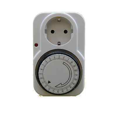 Zeitschaltuhr Analog 24 Stunden 230V Timer Zeitschaltung Schaltuhr Schalter