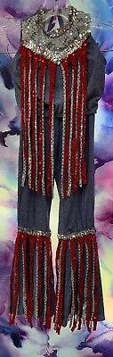 HIPPIE COSTUME SIZE M(10/12) KIDS SEQUIN SHIMMER SUPER CUTE HALLOWEEN (Cute Hippie Kostüm)