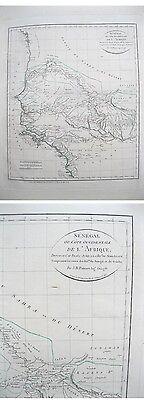 Vintage Map,SENEGAL Ou Cote Occidentale,C.1830,Afrique