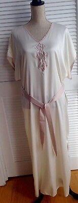 Vintage1977 Victoria's Secret Original Designer Lingerie Caftan PolyesterSaten M