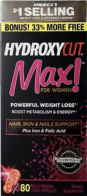 HYDROXYCUT Pro Clinical Max! for Women Weight Loss 80 ea Exp.8/2020 Or