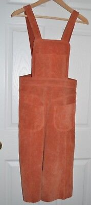 Free People Genuine Leather Overalls Pinafore Skirt Dress 0 / XS NEW