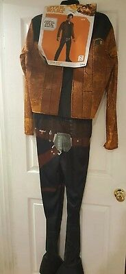 Star Wars Solo Movie Han Solo Adult Mens Costume Size Large 42 44 Brown Disney - Han Solo Adult Costume