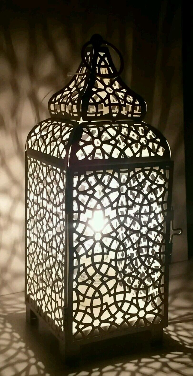 Copper Bronze Moroccan Lantern Metal Electrical Table Lamp New