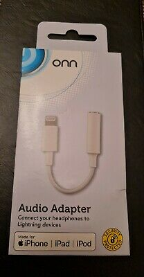 Lightning 3.5mm Jack Audio Adapter Aux Cable Made For iPhone iPad iPod