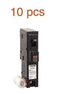 10 Pcs Square D Homeline Hom120df Hom120dfc Dual Function 20 Amp