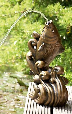 Bradshaws Dancing Koi Water Feature - Gold