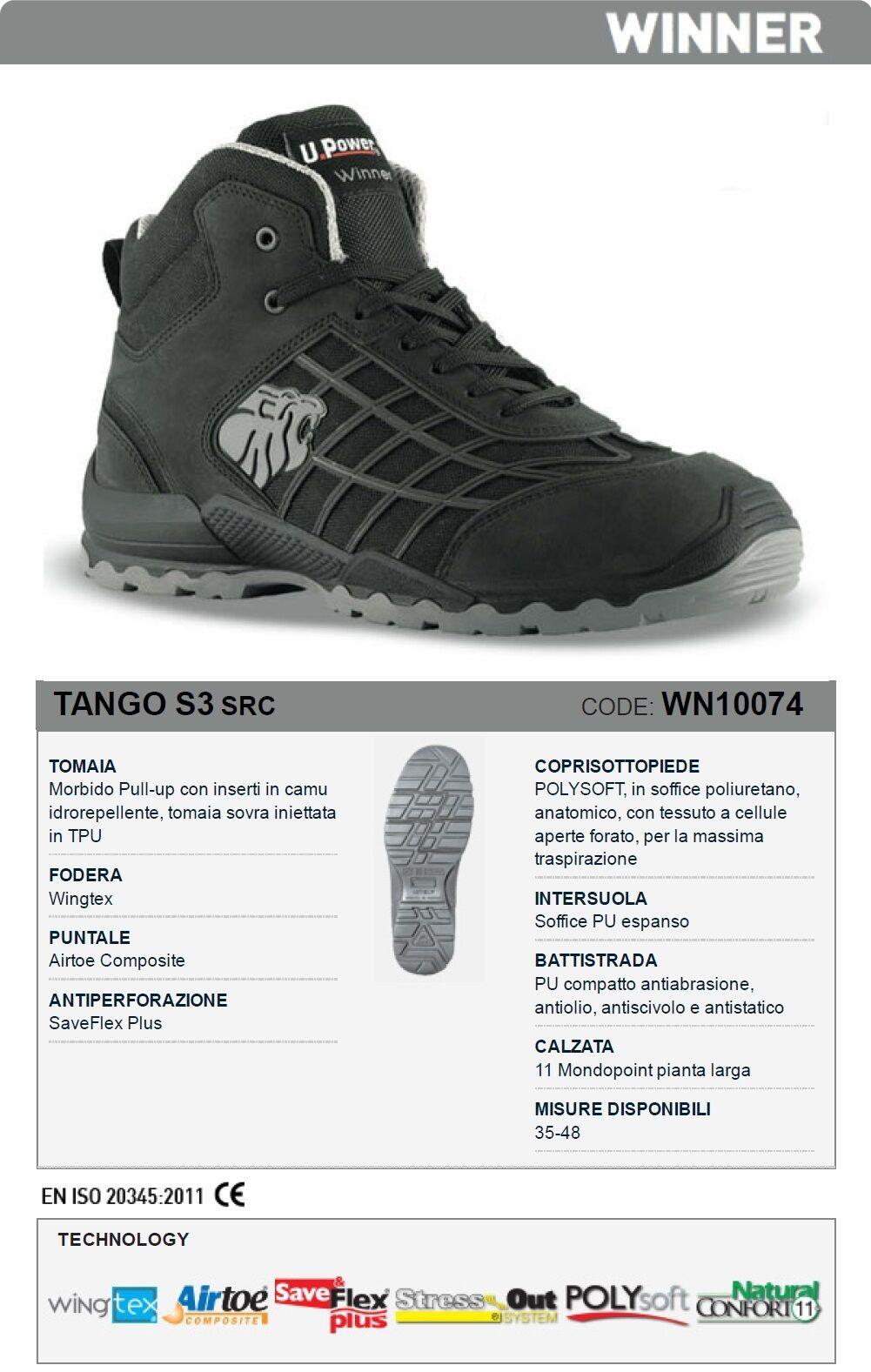 Chaussure de sécurité U Power Tango S3 SRC