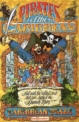 WALT DISNEY WORLD ATTRACTION POSTER PIRATES OF THE CARIBBEAN New