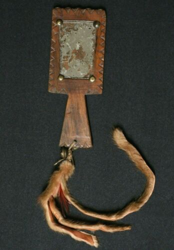 Native American Carved Mirror - Plains Indians - 1870-1890 ca.