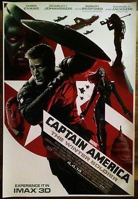 Marvel CAPTAIN AMERICA WINTER SOLDIER-Original IMAX Movie Poster