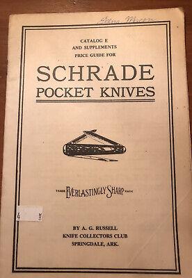 1975 catalog e schrade pocket Knifes  guide  Everlastingly Sharp.