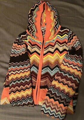 NWT Missoni 20th Anniversary Colore Zig Zag Zip Hoodie Sweater Target Girls S