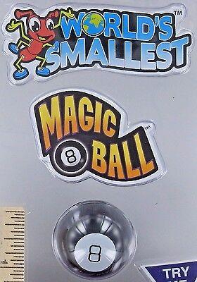 World's Smallest MAGIC 8 BALL Toy Miniature Doll Mattel Mini Fortune Teller NEW
