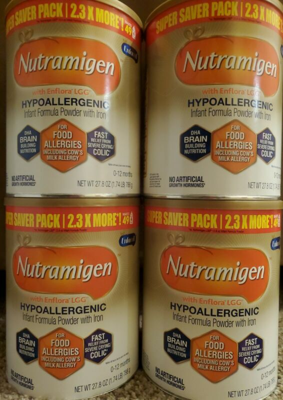 4 Big cans of Enfamil Nutramigen 27.8 oz each