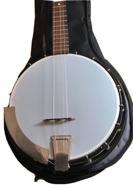 Vintage Kent Stagg 5 String Resonator Banjo +New Padded Bag +New Skin. Excellent