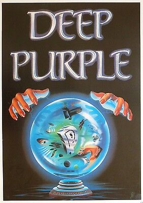 """MUSIC POSTER~Deep Purple 1990 Slaves And Masters 24x36"""" NOS Vintage UK Import~"""