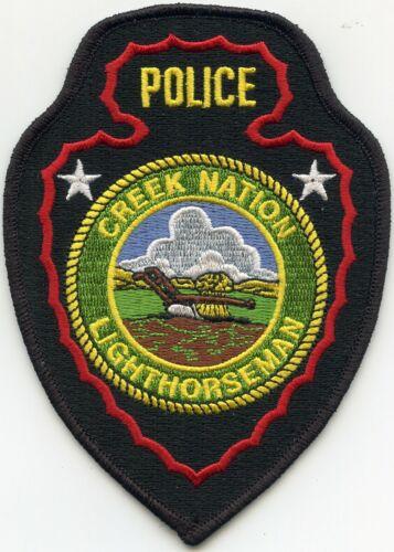 CREEK NATION LIGHTHORSEMAN INDIAN TRIBE OKLAHOMA OK TRIBAL POLICE PATCH