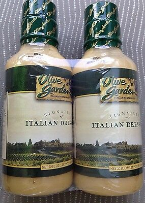 OLIVE GARDEN SIGNATURE ITALIAN SALAD DRESSING 2 X 20 OZ VALUE PACK GARLIC FOOD ()