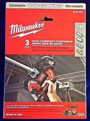 27 X 12 18t Sub-compact Portable Band Saw Blade - 3 Pk Milwaukee 48-39-0572