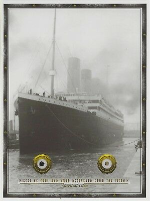 Titanic Coal   Wood Pieces  Relics Removed From The 1912 Wreckage  Rms Historic
