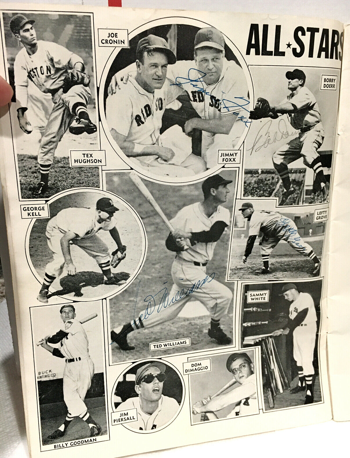 Red Sox Jimmie Foxx--Williams--Lefty Grove--Doerr vintage signed banquet program