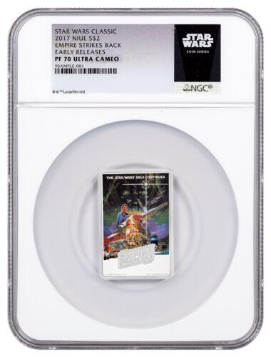 2017 Star Wars Posters Empire Strikes Back 1oz Silver $2 NGC PF70 UC ER SKU48943