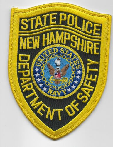 New Hampshire State Police NH US Navy patch