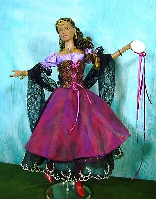 GYPSY/PEASANT SEWING PATTERN FOR  DOLLS WITH THE TONNER TYLER BODY SYDNEY