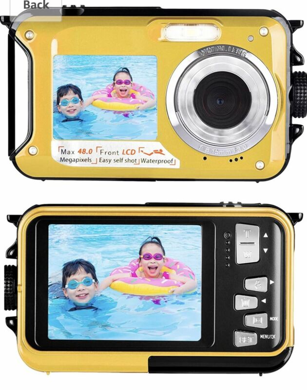 Waterproof+Camera+Underwater+Camera+with+Dual+Screen+2.7K+48MP+-+Brand+New