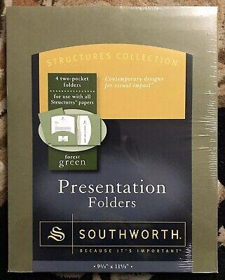 Southworth Resume Presentation Folders 9 X 12 105 Lb285 Navy Textured New