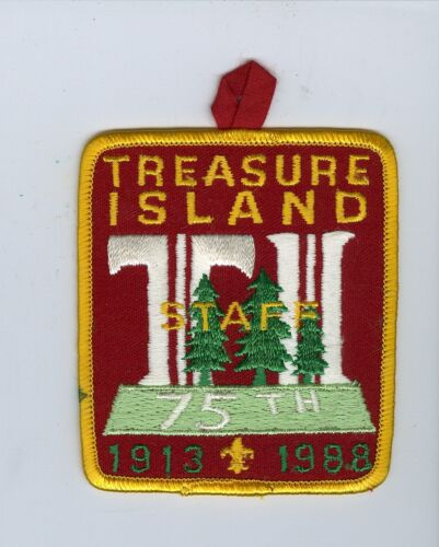 MINT 1988 Boy Scout Treasure Island Scout Camp 75 An STAFF Patch - Phila Council