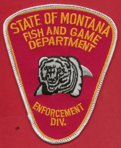 MONTANA FISH AND GAME ENFORCEMENT POLICE SHOULDER PATCH