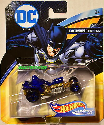 HOT WHEELS 2018 DC COMICS BATMAN HOT ROD CHARACTER CARS