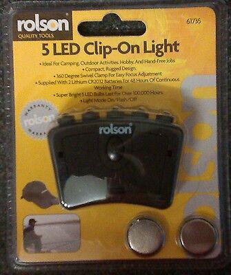 RONSON'S 5 LED CLIP-ON LIGHT